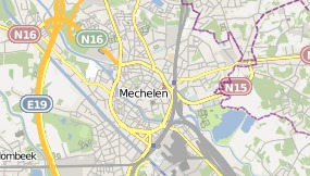 Mapa de Holiday Inn Express Mechelen City Centre