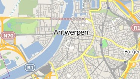 Map of Hotel Banks Antwerpen