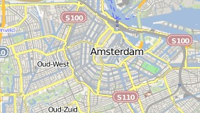 Map of Hotel Ajax D.R. Amsterdam